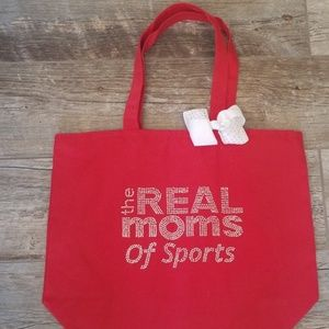 Sports Mom Blinged Tote Bag